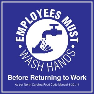 North Carolina handwashing sign