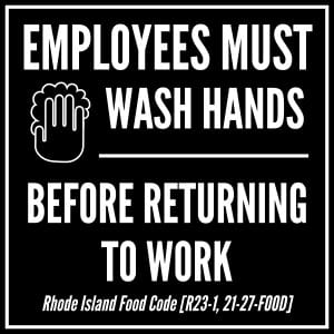 Rhode Island handwashing sign