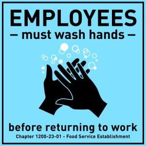 Tennessee handwashing sign