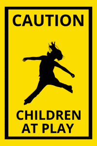 aframe sign children at play