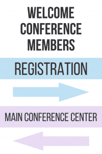 Aframe sign event management conference