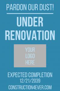 Aframe sign under renovation template