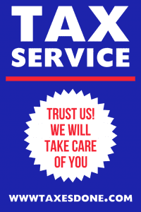 Tax services a frame sign 1