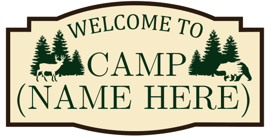 Click to customize this welcome sign for your camp.