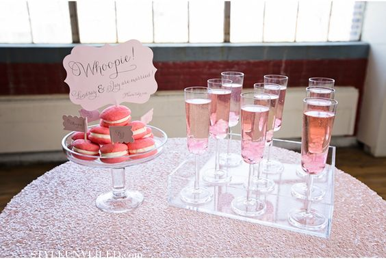 table decor with signs for wedding