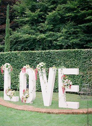 wedding love letters with foam board