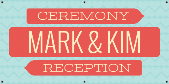 wedding directional banner