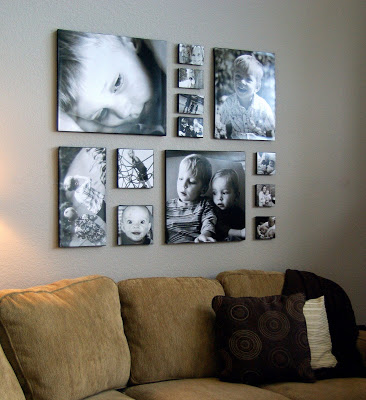 Canvas prints above couch 1