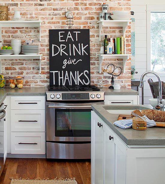 canvas in kitchen
