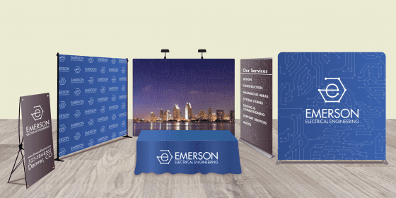 trade show booth mock up graphic