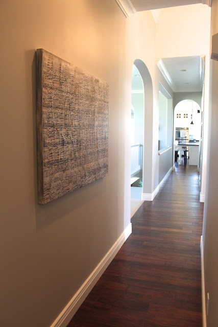 canvas in large hallway