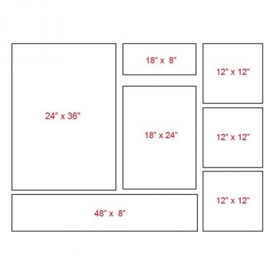 Canvas wrap layouts asymmetrical