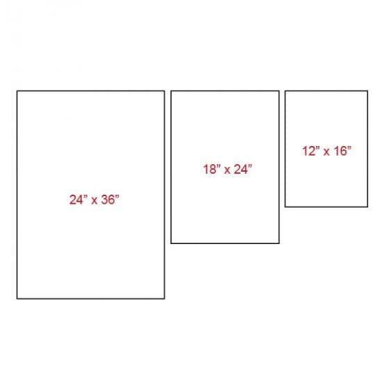 Asymmetrical canvas layout