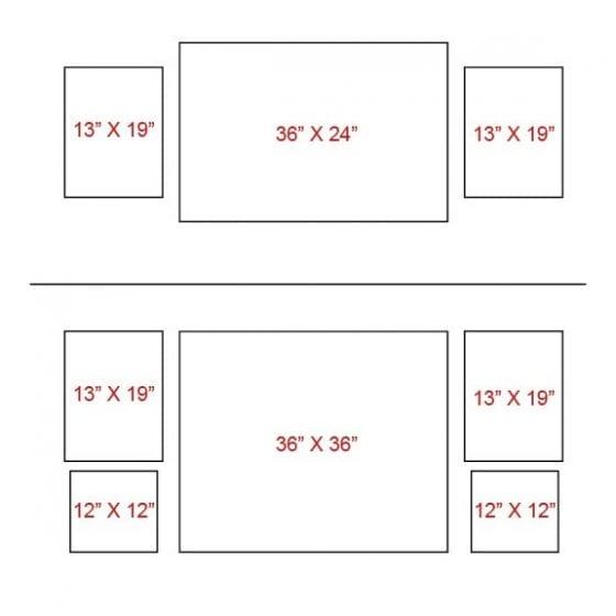 Symmetrical canvas layout