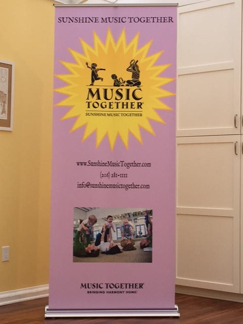 Sunshine Music Retractable Banner