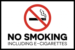Delaware no vaping sign template