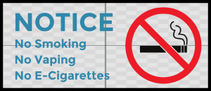 Illinois no vaping sign decal