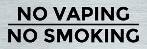 Vermont no vaping sign