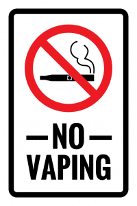 Tennessee no vaping sign