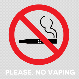 Mississippi no vaping sign decal