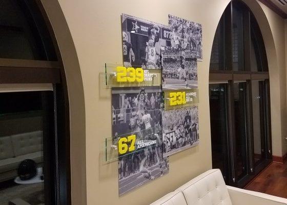 Baylor Football Acrylic Display