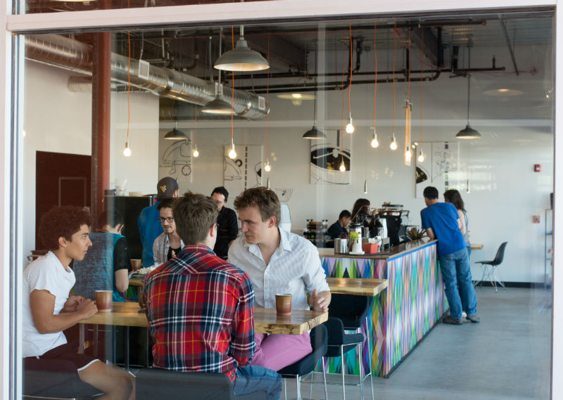 Prismatic Coffee interior