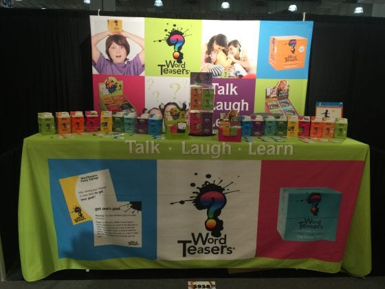 WordTeasers trade show booth