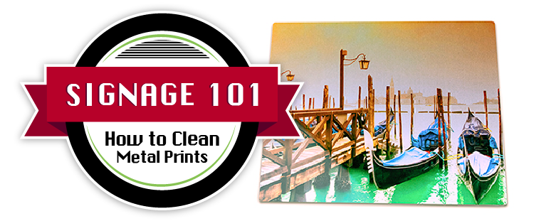 How to clean metal prints feature image