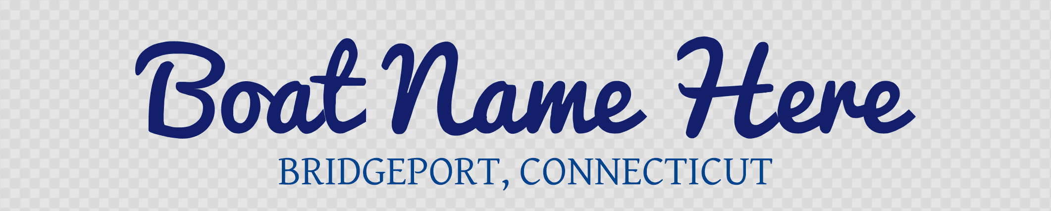 Connecticut hailing port template
