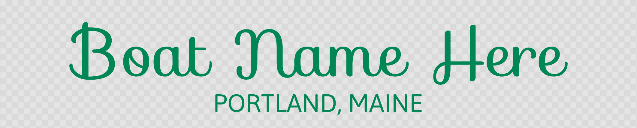 Maine hailing port template