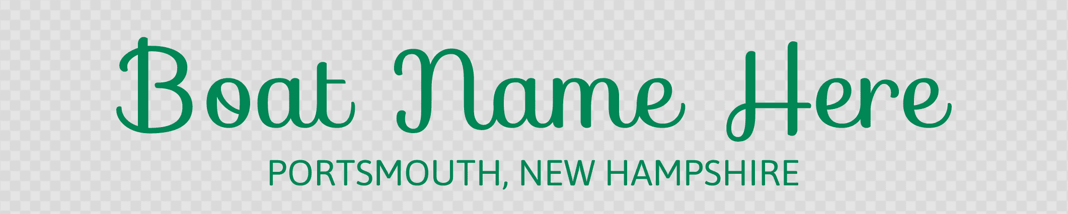 New Hampshire Hailing Port Template