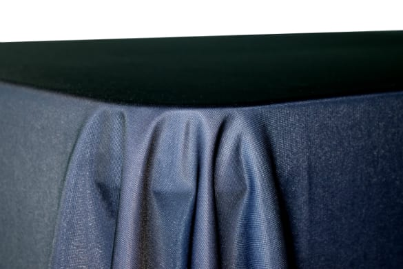 Table Throw Pleated Corners