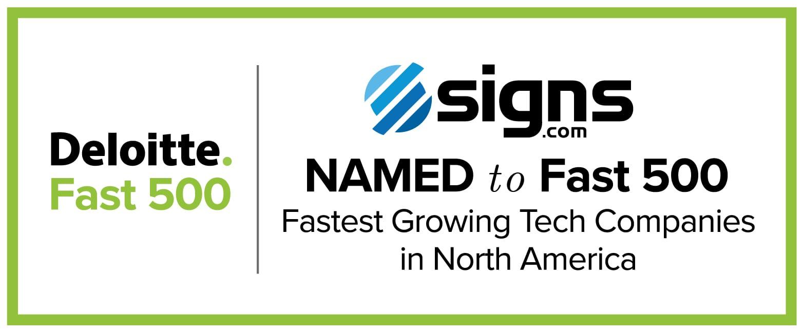 Signs.com Deloitte Fast 500