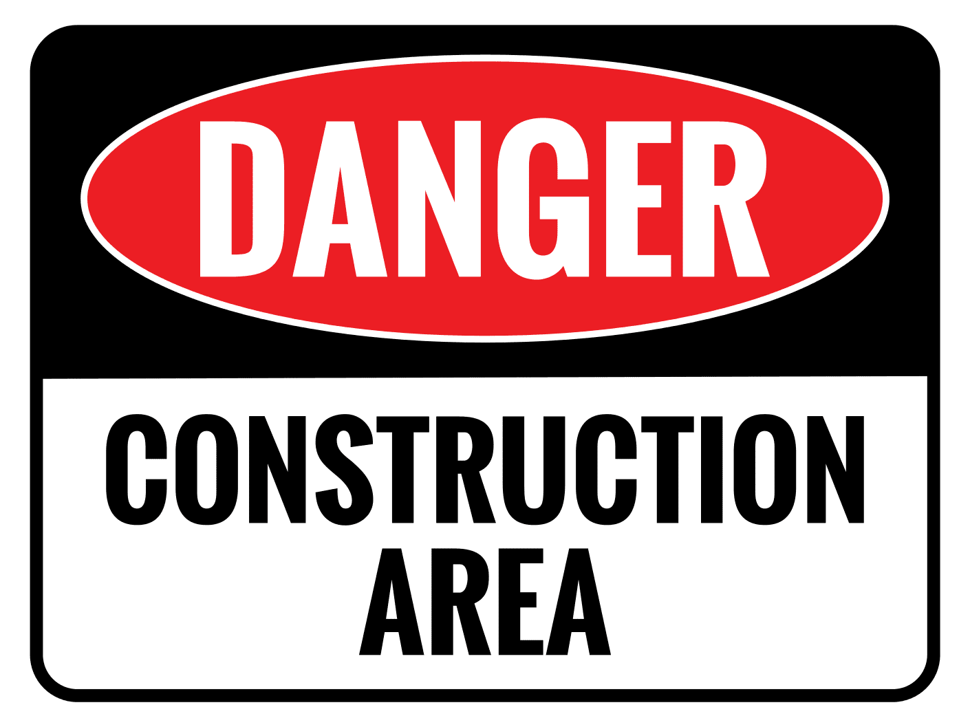 Temporary Construction Area Sign