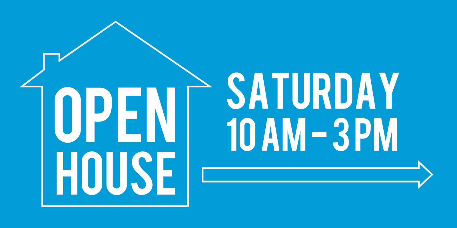 Temporary Open House Sign