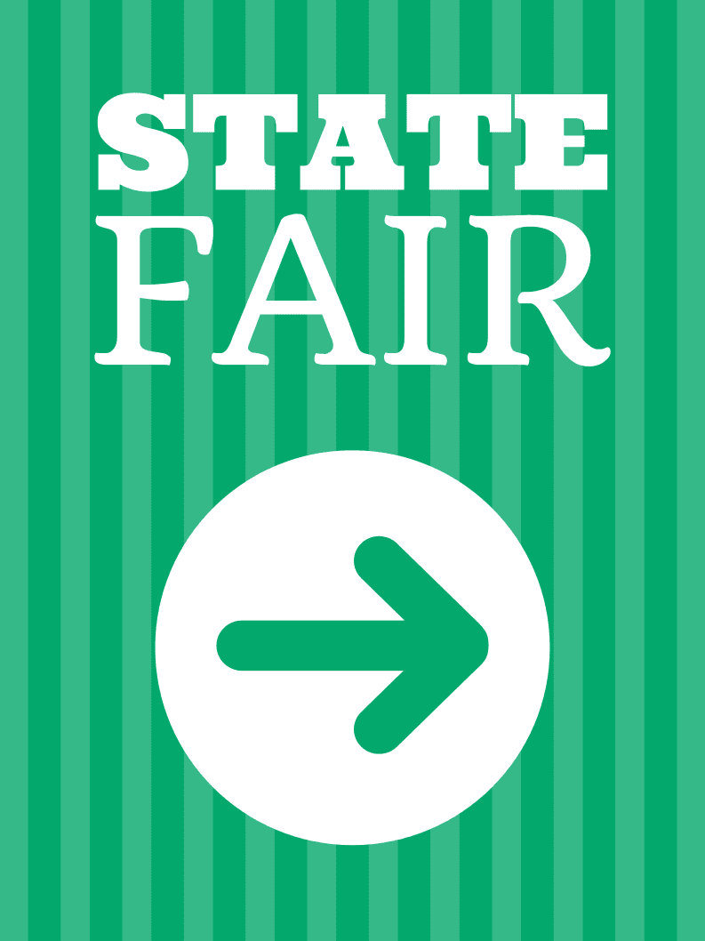 Temporary State Fair Sign