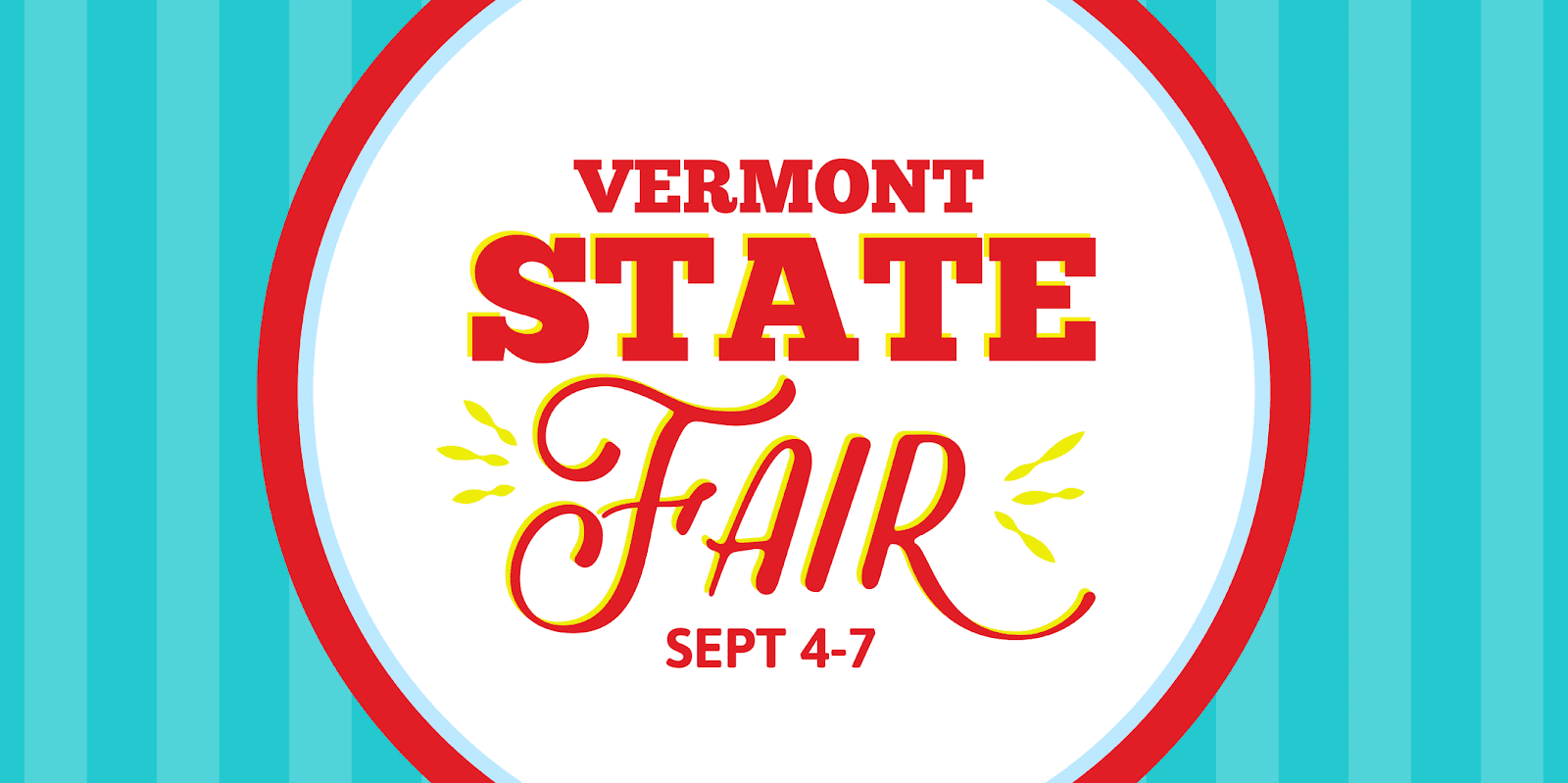 Temporary Vermont State Fair Banner