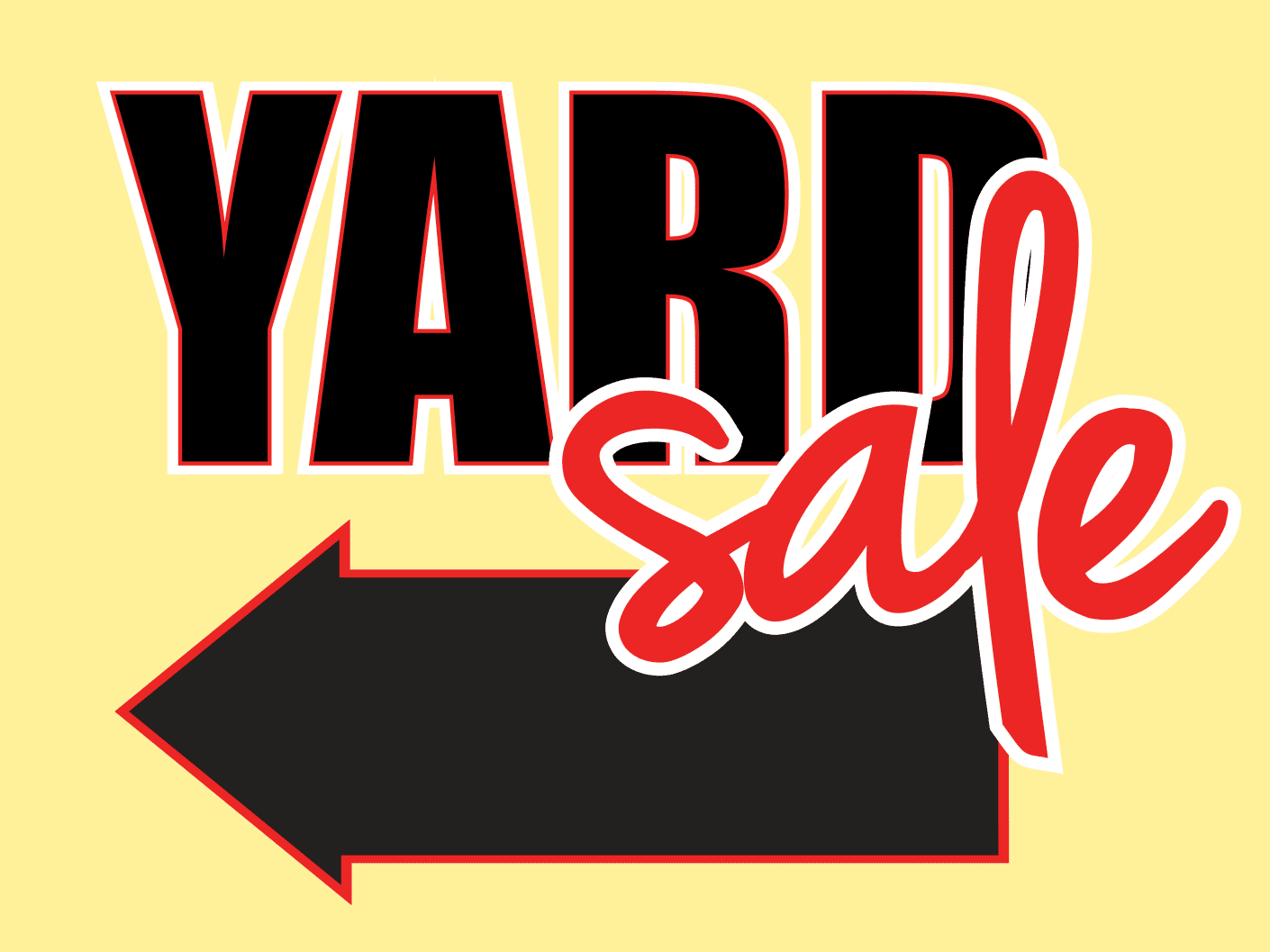 Temporary Yard Sale Sign