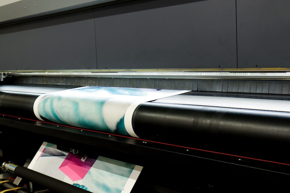 Large format roll-to-roll printer.