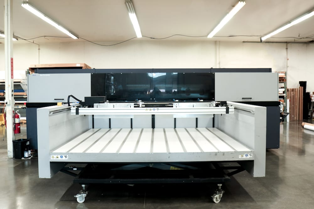 Large format flatbed printer.