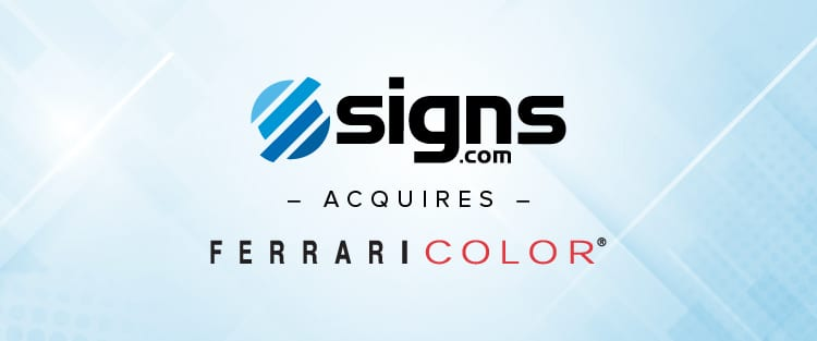 Signs.com acquires Ferrari Color