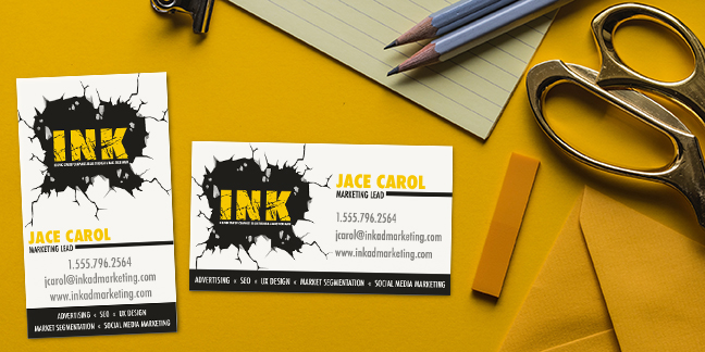 Horizontal vs Vertical Orientation Business Cards