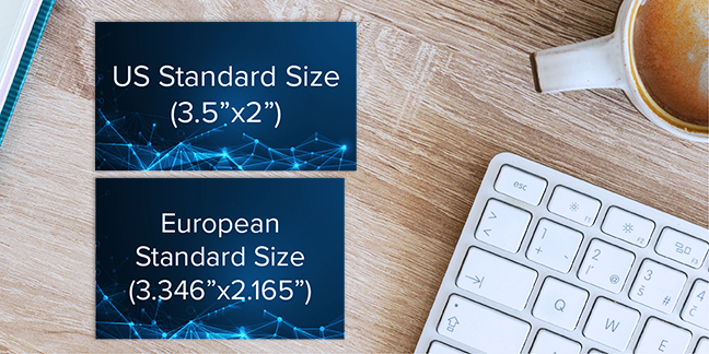 US vs European Business Card Size