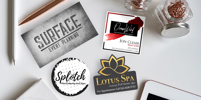 Square, Cirlce and Custom Business Card Shapes
