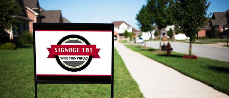 Signange 101: Yard Sign Costs