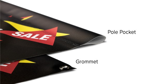Pole Pockets vs Grommets On a Vinyl Banner