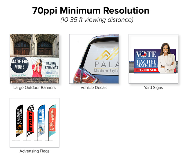 Printed Mediums with a 70 ppi Minimum Resolution