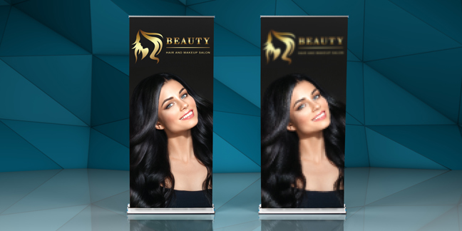 High quality vs low quality images on a retractable banner