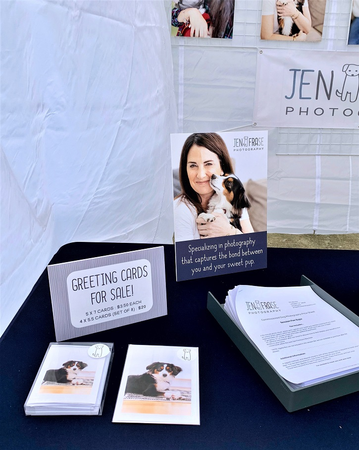 Counter cards used to promote Jen Frase Photography