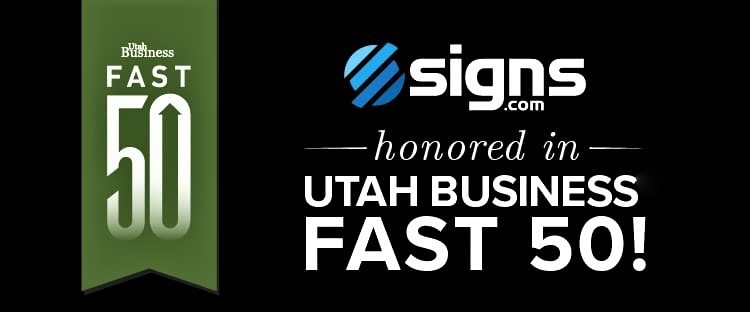 Signs.com recognized by the Utah Fast 50